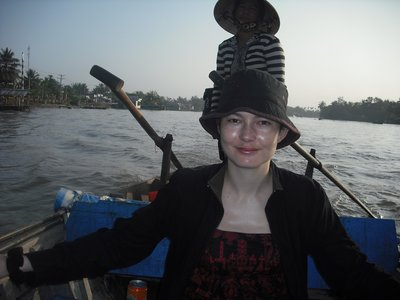 Me and our boatswoman on her sampan