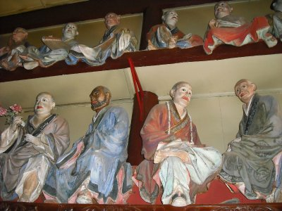 Li Guangxiu's luohan at Bamboo Temple, Kunming