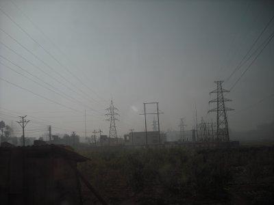 Polluted haze, region of Yuxi