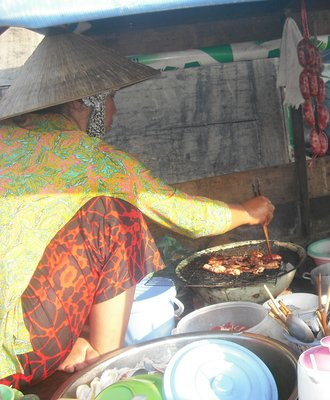 Breakfast on the Mekong River