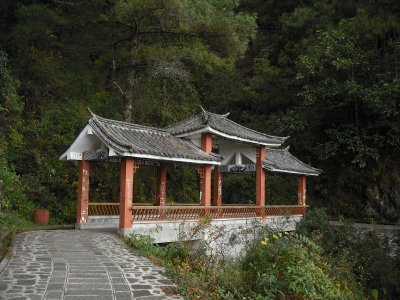Bridge, mountain walk, Dali