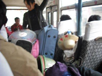 Crowded bus to Hekou