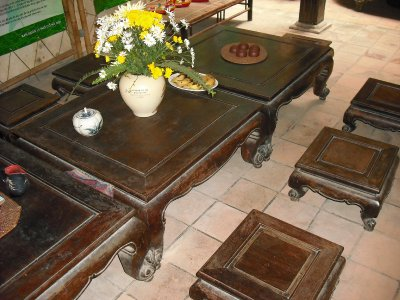 Tea table, front room, Memorial House