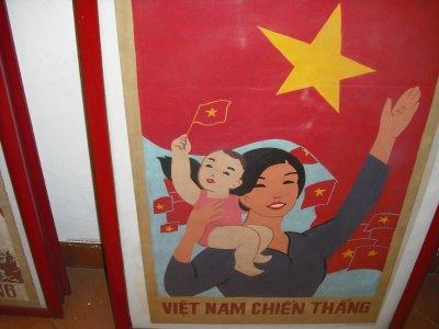 Old propaganda poster, Hanoi