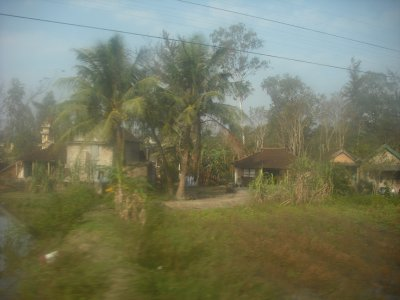 Pretty rural scene, again caught from train window, north of Hue
