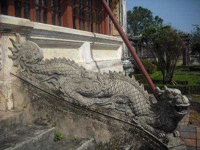 Dragon bannister, Emperor's Reading Room, Imperial Enclosure