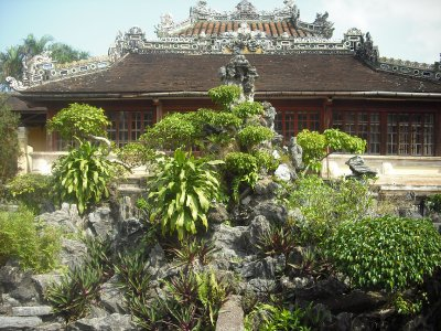 Rockery outside the Emperor's Reading Room, Imperial Enclosure