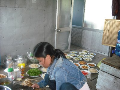 Preparing lunch on the dragon boat, Hue