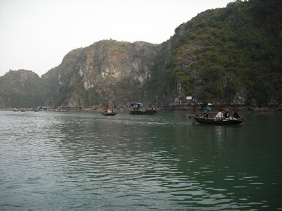 Sampan on Halong Bay