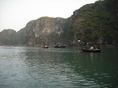 Sampan on Halong Bay