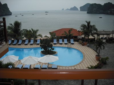 The view from our room at Cat Ba Sunrise Resort, Cat Ba Island