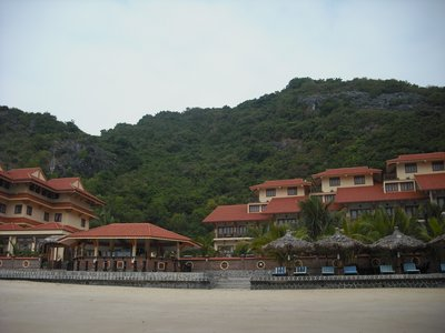 Our hotel, the Cat Ba Sunrise Resort - heavenly setting!