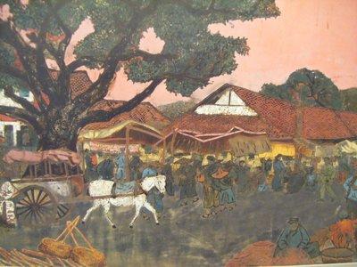 Village scene, Fine Arts Museum, Hanoi