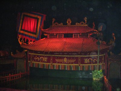 Setting the scene, Water Puppet Theatre, Hanoi