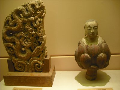 Young Buddha emerging from a lotus, History Museum, Hanoi