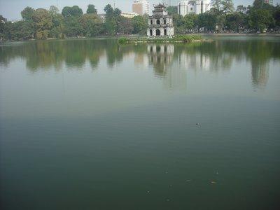 Thap Rua (Tortoise Tower), Hoan Kiem Lake, Hanoi
