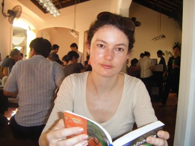 Sitting in Quan An Ngon, favourite restaurant in HCMC