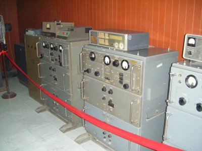 Radio communications room underground in Reunification Palace