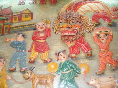 Chinese mural, Cholon, Saigon
