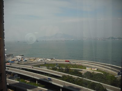 View of harbour from our hotel room (bad pollution so hard to get a good photo!)