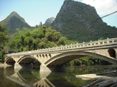 Bridge over the Li River, Xingping