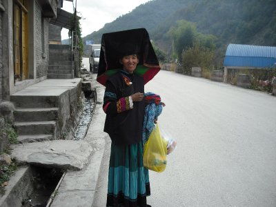 Minority tribe woman in traditional dress