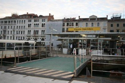 Water Bus station in St. Mark's Square