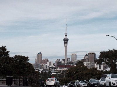 Sky Tower View from Ponsonby Road