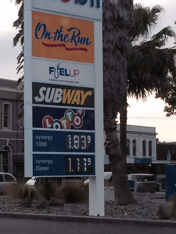 Yikes - check out the petro charges/litre