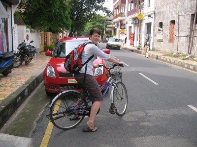 Cruising around the french part of Pondicherry