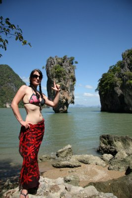 Posing James Bond Island