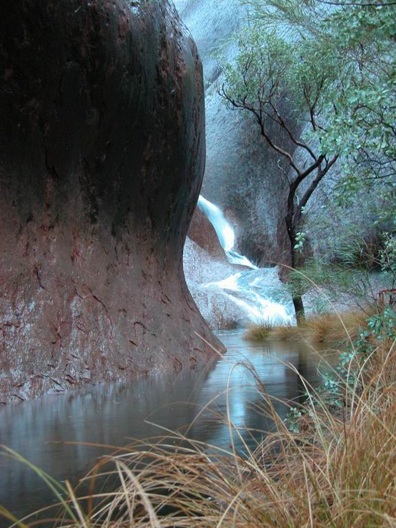 Waterfalls at Uluru