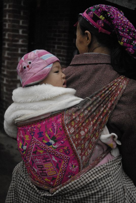 Miao Grandmother and baby