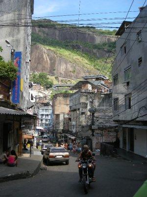 Rocinho Favela - commercial centre - run by drugs