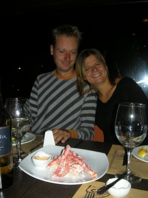 King Crab (on the plate) - Vincent and Jana too! Ushuaia