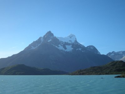 Los Cuernos from the lake - Torres del Paine Nat Park
