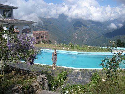 Coroico hotel pool with view