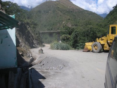 Coroico - this was the road we were heading down to the village