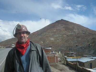 Potosi - Mine Tour - Cerro Rico (the hill behind Seth)