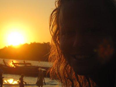 Trine i solnedgangen