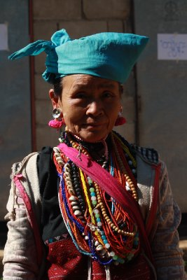 Colourful Karen hill tribe woman