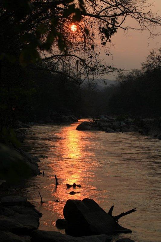 sunset ob luang