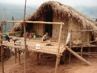 Traditional hill tribe house