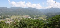 View of Mae Hong Son valley from Wat doi gong mu temple
