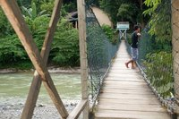 Bridge across the river in Bukit Lawang