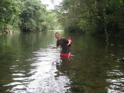Wading in the jungle river 2