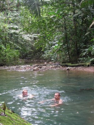 Swimming in the jungle river