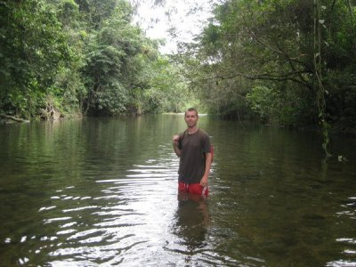 Wading in the jungle river 3
