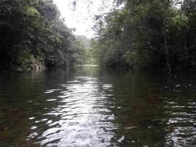 Wading across