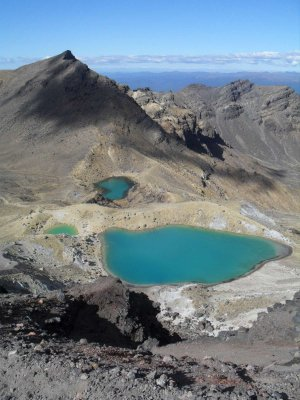Tongariro sulphur lakes
